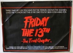 Original Movie/Film Poster Friday 13th Part V A New Beginning and Friday 13th The Final Chapter