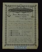 C.1900 Stringer Brothers Iron Manufacturers Broadside Dudley & Albion Contractors to the Government,