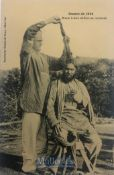 India & Punjab – Sikh Soldier with open Hair original antique WWI postcard of a Sikh Soldier in