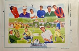 Golf Foundation 'Images Of Golf' Poster measures 70x100cm approx (3)