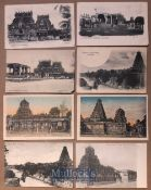 India - Collection of 8x postcards of Tanjore, India - Views of Hindu temples & monuments plus more.