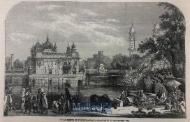 India & Punjab – Golden Temple of Amritsar original engraving from The ILN titled 'A Sikh Temple
