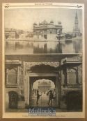 India - Original print of views of the Golden Temple holiest shrine of the Sikhs, Amritsar Punjab.