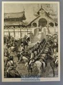 India / Burma - Reception of General Roberts in Mandalay Original Engraving by A Forestier after a