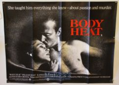 Original Movie/Film Poster Selection including Fame, Legal Eagles, Volunteers and Body Heat measures
