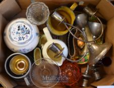 Selection of Ceramic, Glass & Metal – Featuring Royal Doulton, Candlesticks, glassware, Hornsea (