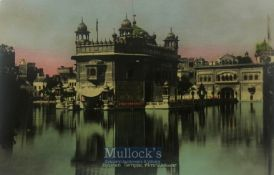 India & Punjab –Golden Temple, Amritsar original antique colour tinted postcard showing the Golden
