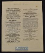 Theatre Royal Worcester Play Bill 1824 date 24th April includes The Cataract of the Ganges, Field of