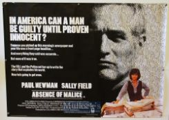 Original Movie/Film Poster Selection includes Absence of Malice, War Games, Blow Out, and The Boat