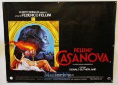 Original Movie/Film Poster Selection including Fellini's Casanova, The Four Seasons, The Devil & Max