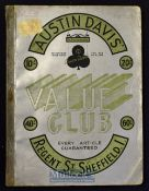 Austin Davis House Hold Goods & Fashion Catalogue, Regent Road, Sheffield, Circa 1933 A large 212