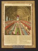 1821 Coronation Dinner of George IV Broadside Printed and Sold by J. Bailey, London 1821 hand-