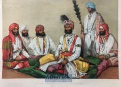 India & Punjab – Raja Jowahar Singh a fine antique coloured Chromolithograph after William Carpenter