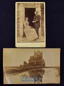 Whitby Abbey - Original Photograph by Frank Sutcliffe^ Circa 1880s Cabinet Photograph Fine