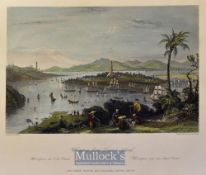 China - 1843 Whampoa^ from Dane's Island colour engraving drawn by T. Allom measures 25x20cm approx
