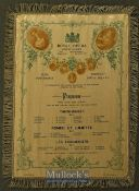 1897 Royal Opera Covent Garden Silk Programme - State Performance To Commemorate The Sixtieth