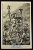 India & Punjab - A Night Picket Going on Duty original illustration 1898 by J. Nash R.I. shows the
