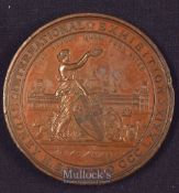 International Exhibition Sydney Medal to J.B White Bros Cement 1st Award 1879 - Obverse; Figure of