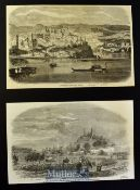 India - Lucknow - Two original engravings 'Lucknow The Capital of Oude 1856 and Lucknow from the