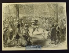 India & Punjab - Seepee Fair^ Near Simla in the Himalayas original engraving from a sketch by