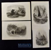 India - c1860 Eight steel engravings depicting various scenes such as Sir Charles Napier Pursuing