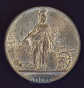 Scarce Giant Crystal Palace Medallion 1851 Obverse; The Crystal Palace with Portraits of Queen