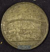 Sunderland Bridge Lottery 1816 Medallion - issued to promote this Lottery. Obverse; View of the