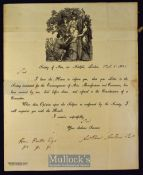 The Society of Arts Awards Its Isis Medal 1820 Addressed to Miss M. Copland inviting her to attend