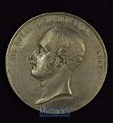 Large Prince Albert Memorial Medallion 1861 - Obverse; Portrait Bust of Prince Albert. Reverse;