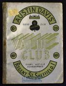 Austin Davis House Hold Goods & Fashion Catalogue^ Regent Road^ Sheffield^ Circa 1933 A large 212