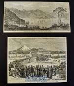 New Zealand - Four original engravings from the Illustrated London News/Graphic - Panoramic View