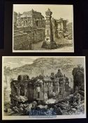 India - The Kailas in the Cave Temples of Ellora original Engraving 1876 by William Simpson