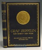 Zeppelin - Denkmal^ fur das Deutsche Volk' Prof. Dr. Ludwig Fischer^ ND - A very imposing large Book