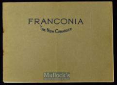 Cunard Liner 'The New Franconia' Promotional Brochure 1923 an impressive 16 page publication^ 18