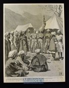 India & Punjab - The Expedition Against the Bunerwals two original illustrations after W.T. Maud