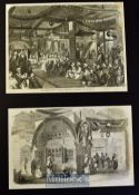 India & Punjab - Two original engravings by W. Carpenter Shah Hamadan's Musjid^ Cashmere 1858
