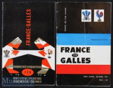 1961 & 1965 France v Wales Rugby Programmes (2): the former being the first of the regular