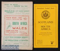 1951 South African Springbok Tour Rugby Programmes (2): Issues from the internationals v Wales and v