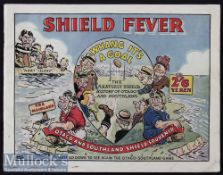 1950 New Zealand Rugby Brochure 'Shield Fever': Most attractive famously colourful cartoon-covered