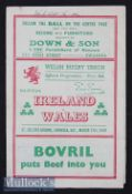 1949 Wales v Ireland Rugby Programme: Ireland Triple Crown/Champs season. 'Wales lost 5-0' a tad