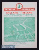 1948 England v Ireland Rugby Programme: Ireland swept the board and here's the sought-after