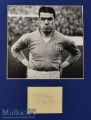 Dixie Dean Signed Display with signature below print^ mounted ready to frame measures 25x31cm