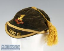1920 Rugby Honours Cap: In lovely outward condition though with lining thoroughly worn^ ideal for