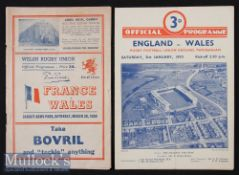 1950 Grand Slam Rugby Programmes^ England/Wales & Wales/France (2): Wales swept the board that year.