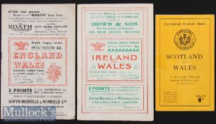 1953 Wales Five Nations Rugby Programmes (3): England were to be the Champions. Issues v England & v