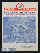 1949 England v Scotland Rugby Programme: Odd mark and slight fold but generally VG usual 4pp