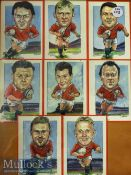 British Lions Welsh Rugby Caricatures: Jeff Giggs' colourful and attractive portraits of the 8