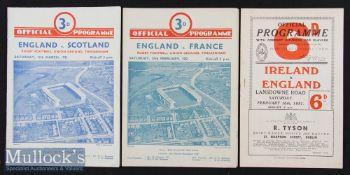 1951 England Five Nations Programmes (3): Irish Championship season. England away at Dublin^