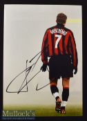 Andriy Shevchenko Signed Colour Photograph measures 30x21cm approx.