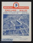 1948 England v Wales Rugby Programme: Only the expected pocket folds to note on this good 4pp